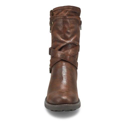 Lds Tessie 2 brown slip on combat boot