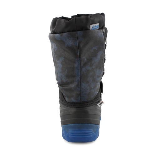 Bys Thunder blue wp light up winter boot