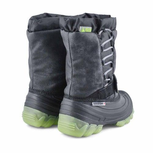 Bys Thunder lime wp light up winter boot