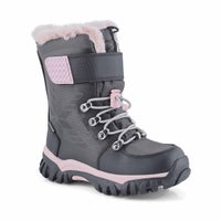 Girls' TOASTY charcoal waterproof winter boots