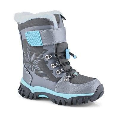 Grls Toasty pewter wtpf winter boot