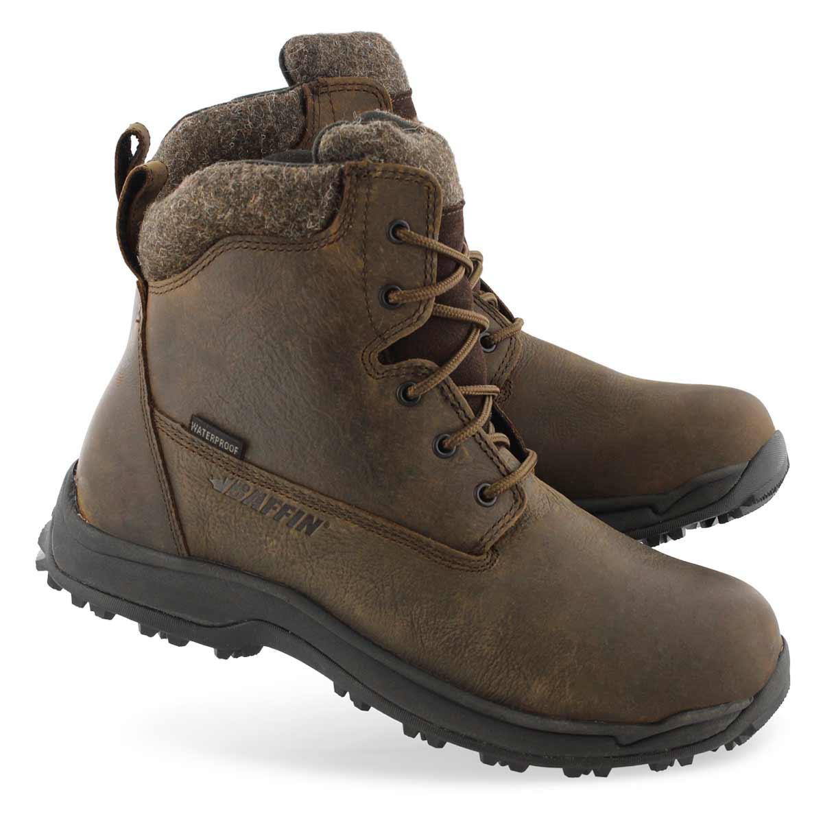Men's TRURO brn waterproof lace up winter boots