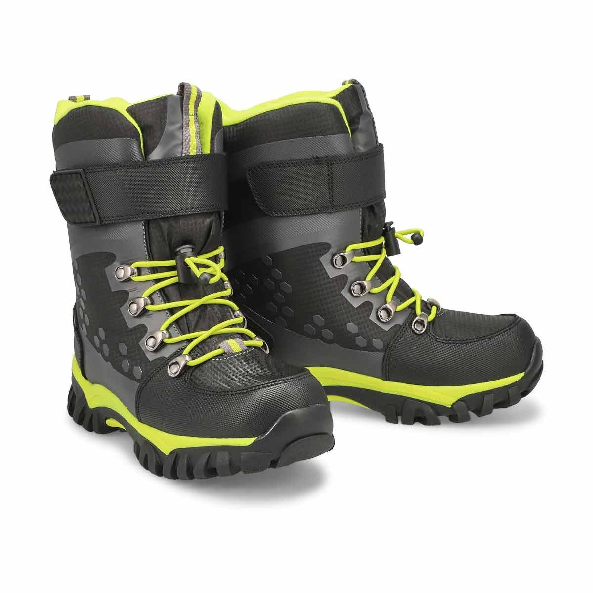 Boys' TURBO 2 black waterproof winter boots