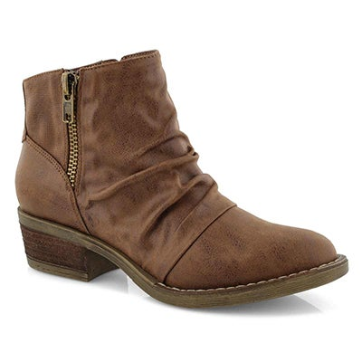 Women's TYRA  tan slip on booties