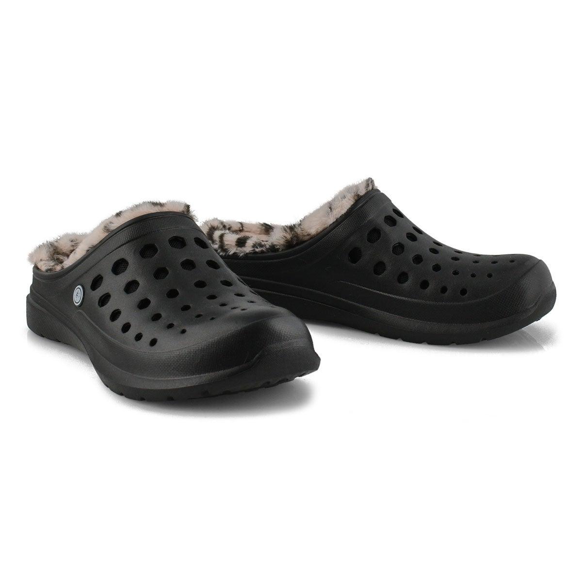 Unisex Uaslp Comfort Clog - Black/Cheetah