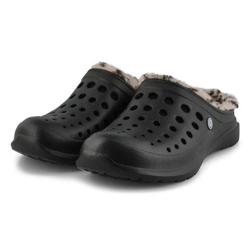 Unisex Uaslp black/cheetah comfort clogs