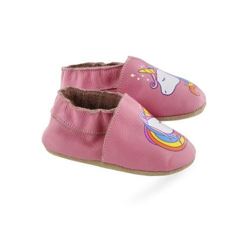 Infs-g Unicorn pnk slipper bootie