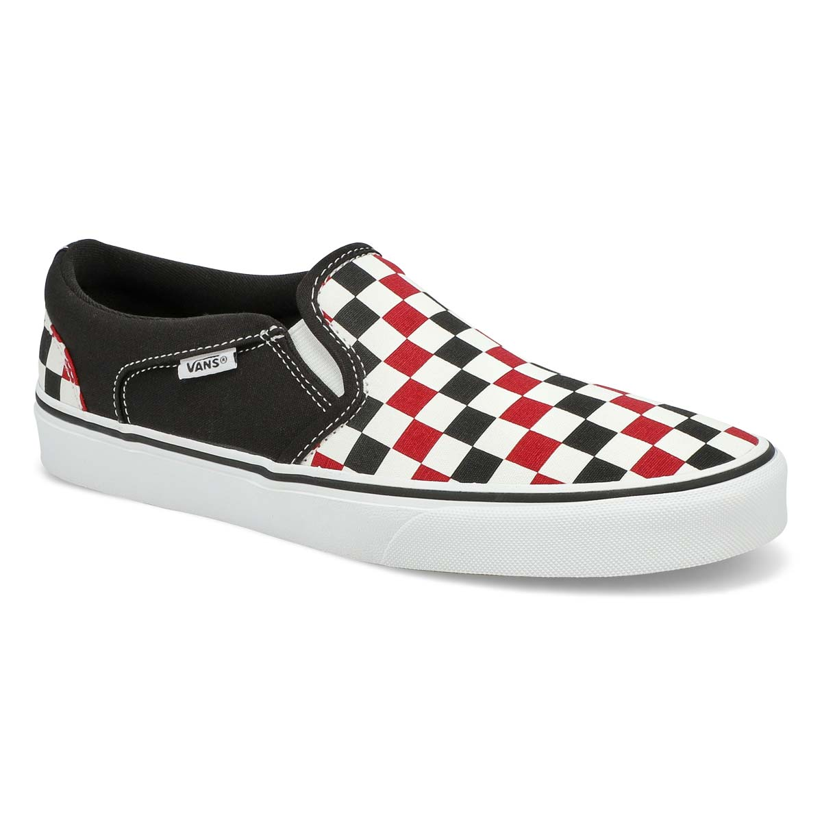 Men's Asher Slip On Sneaker- Checkered Chili/White