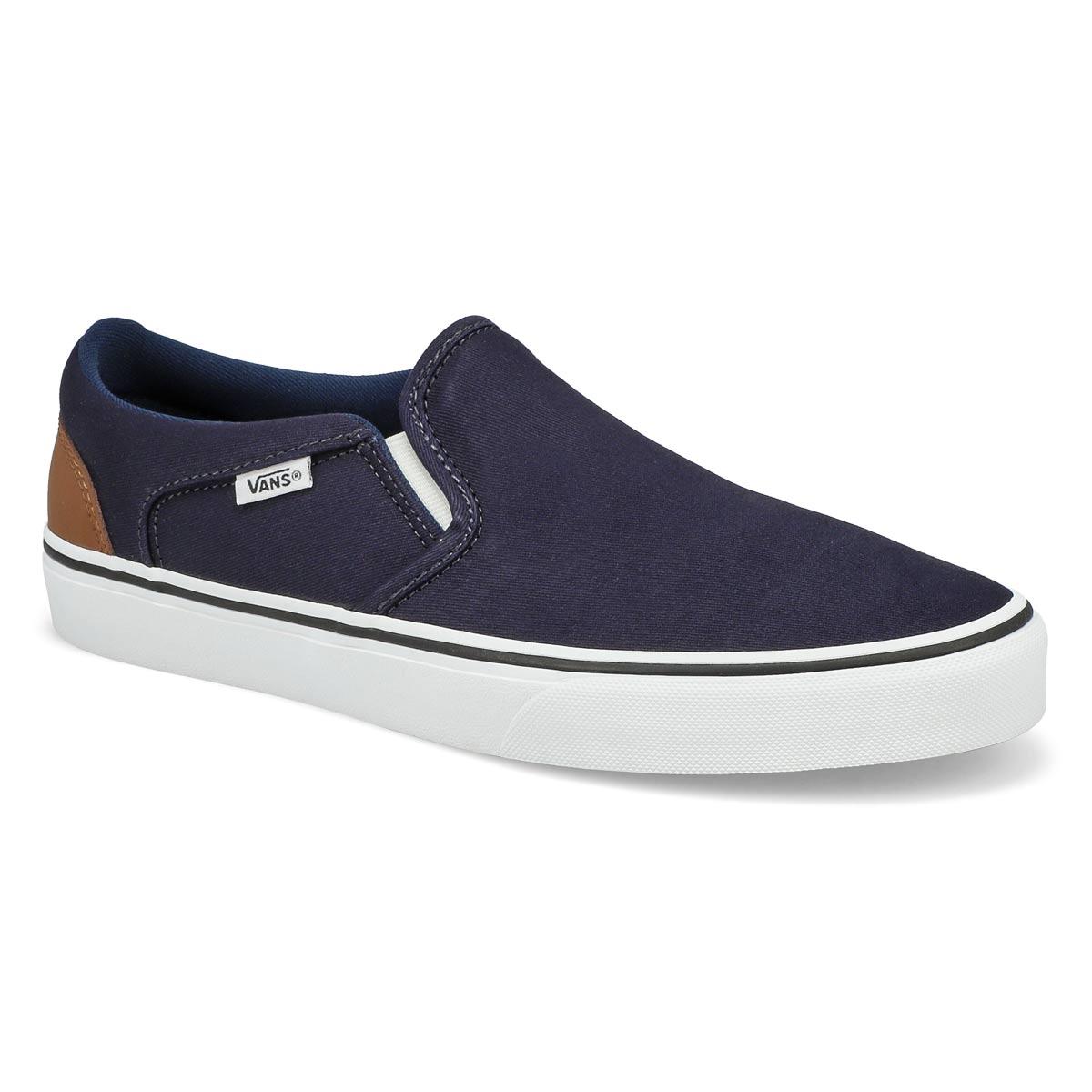 Men's Asher Dress Slip on Sneaker- Blue/Wht