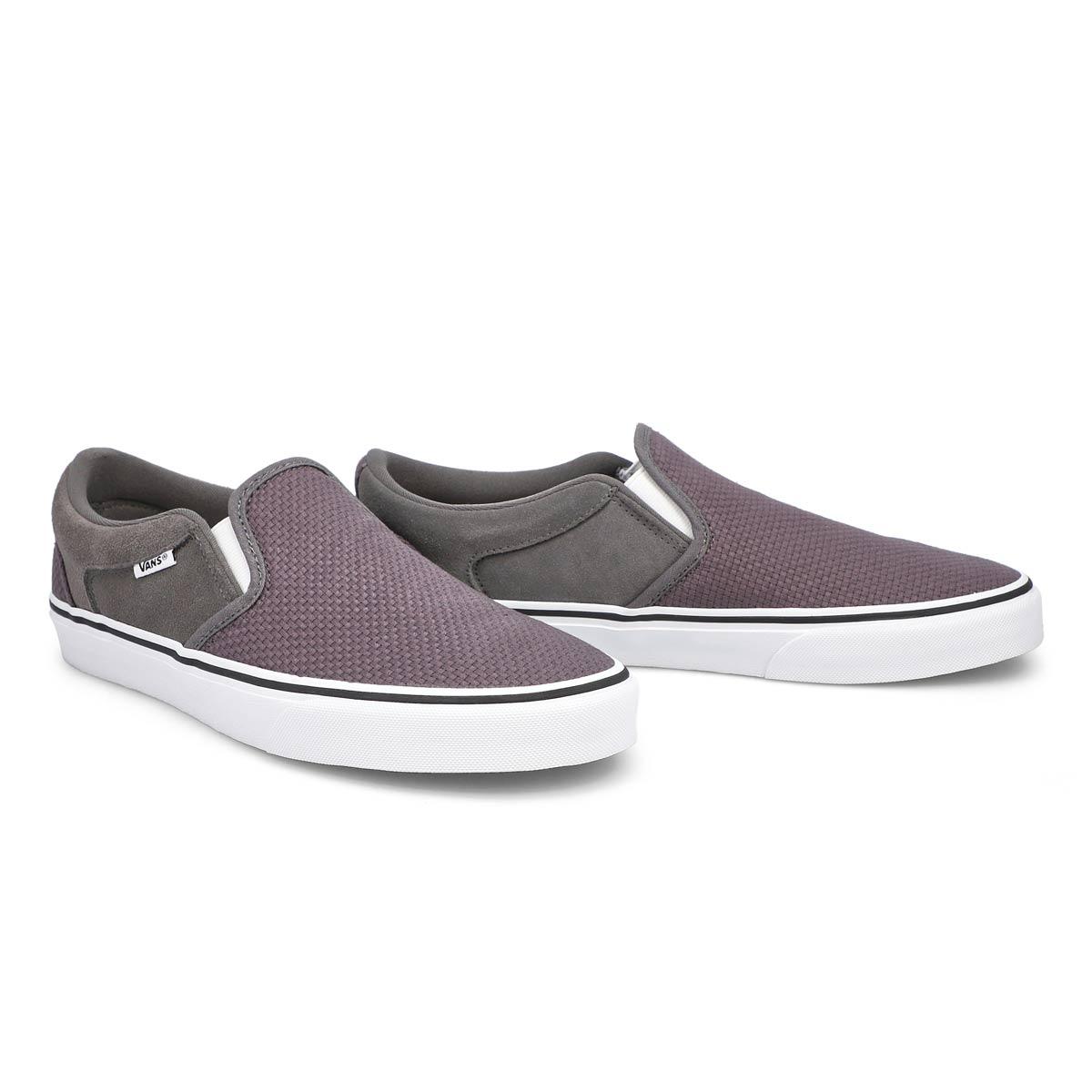 Men's Asher Slip On Sneaker - Pewter/White