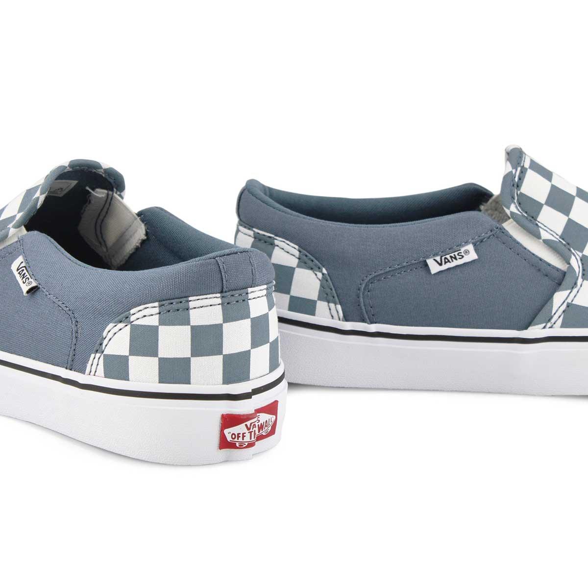 Men's Asher Sneaker - Checkered Blue/White