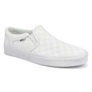 Men's Asher Sneaker - Checkered White/White