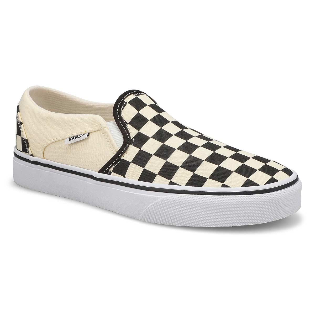 Women's Asher Sneaker - Checkered Black/White