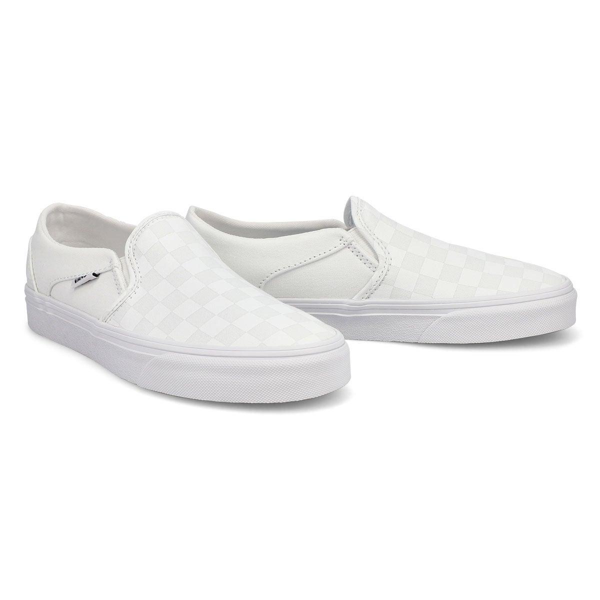 Women's Asher Sneakers - Checkered White/White
