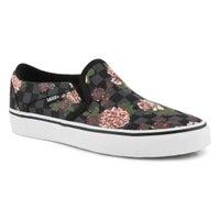 Women's Asher Sneaker - Flowers/Black