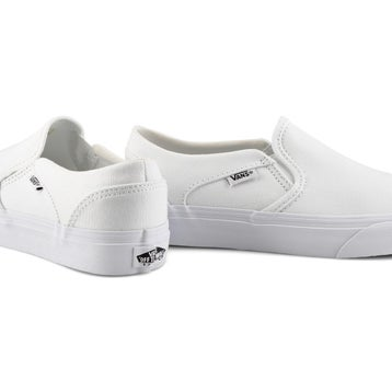 Women's ASHER white/white slip on sneaker