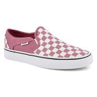 Women's Asher Sneaker - Checkered Rose/White