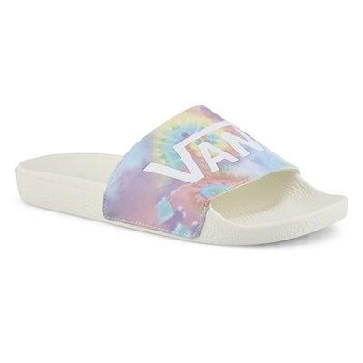 Women's SLIDE ONE TIE DYE multi slide sandals