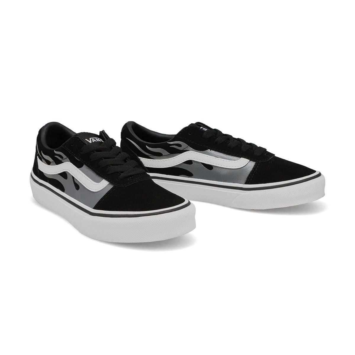 Boys' Ward Sneaker - Black/White Flame