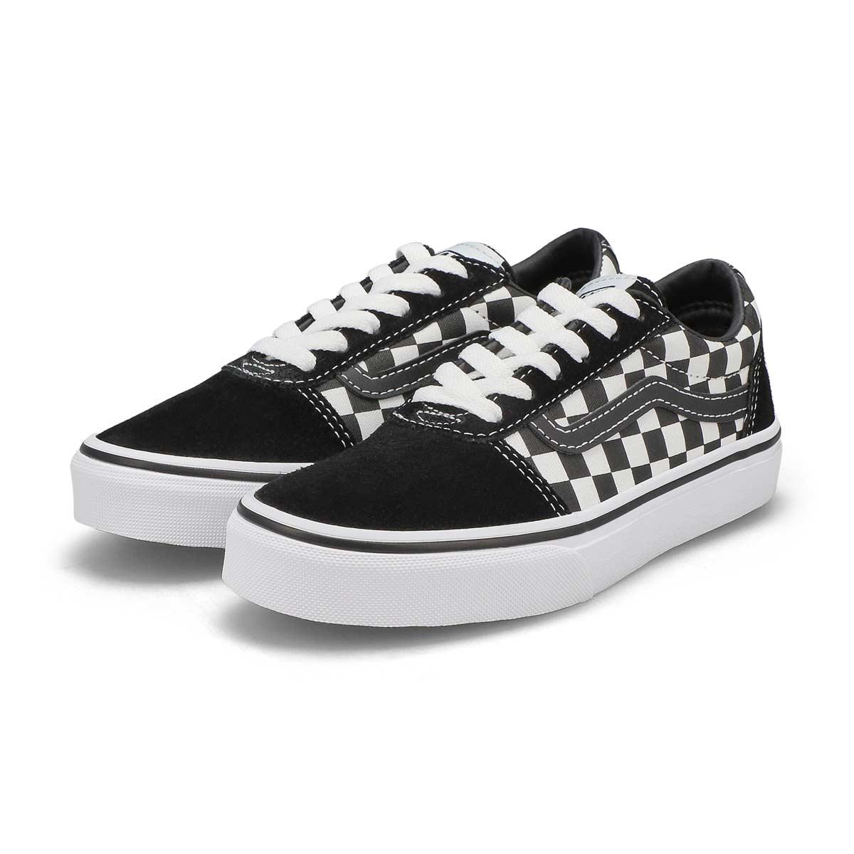 Boys' Ward Sneaker - Checkered Black/White