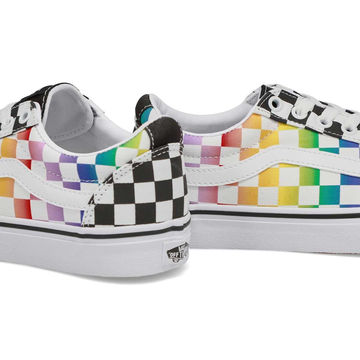 Women's Ward Sneaker - Checkered Rainbow/Blk/Wht