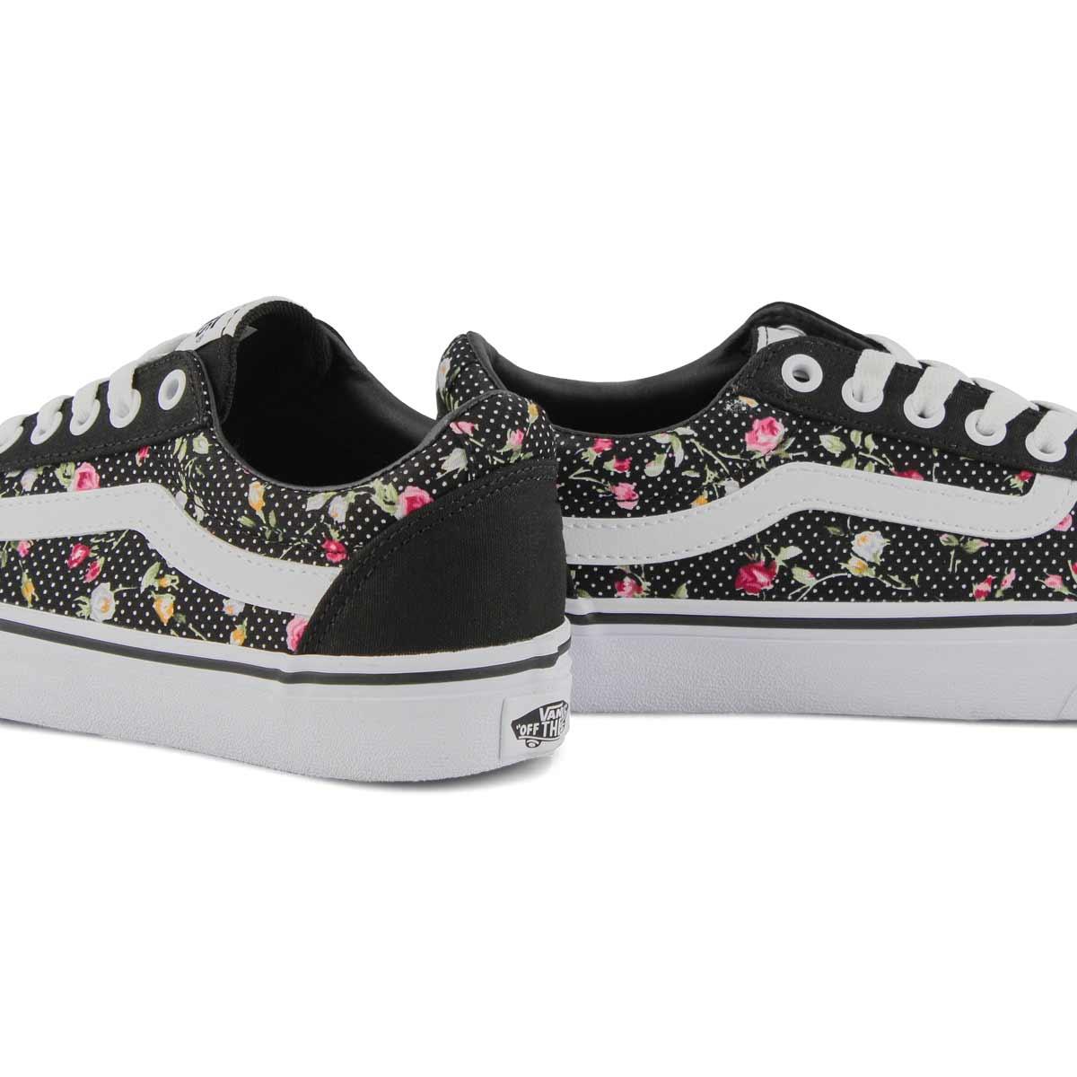 Women's Ward Sneaker - Floral Dot Black/White