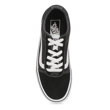 Women's WARD black/white lace up sneakers