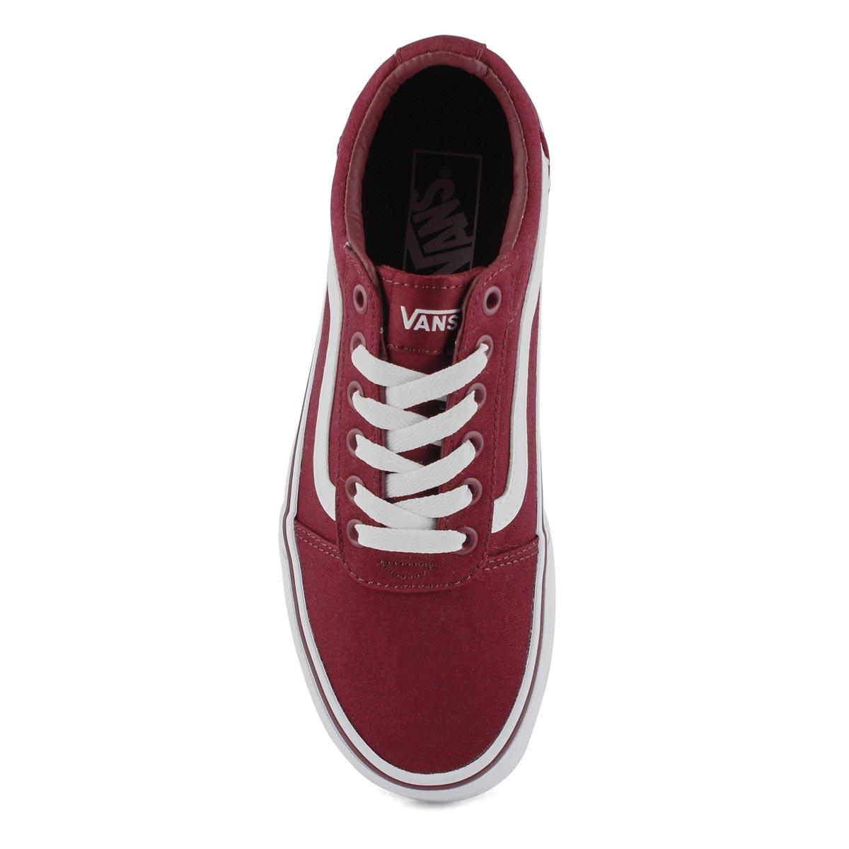Women's Ward Sneaker - Burgundy/White