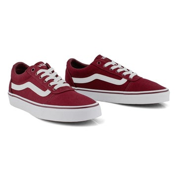 Women's WARD burgundy/white lace up sneakers