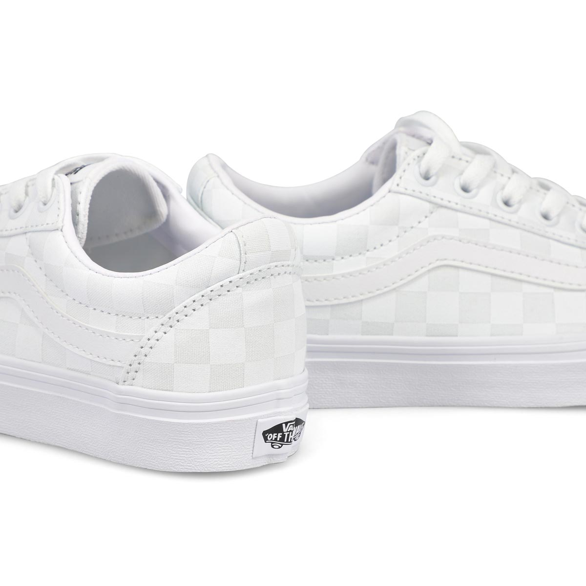 Women's Ward Sneaker - Checkered White/White