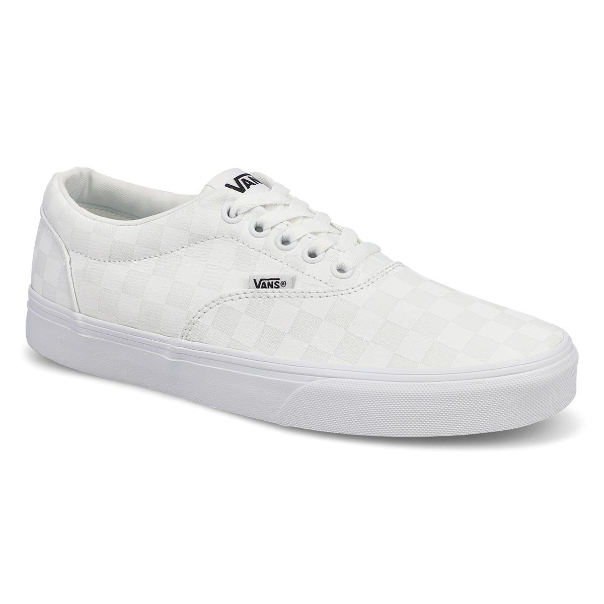 Men's Doheny Sneaker - Checkered White/White