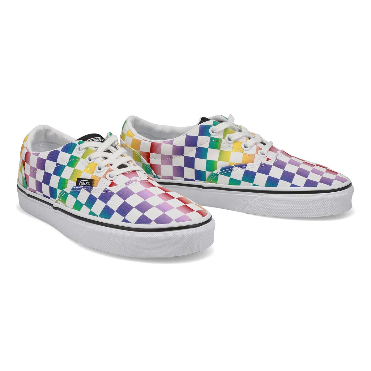 Women's Doheny Sneaker - Checkered Rainbow/Bk/Wh