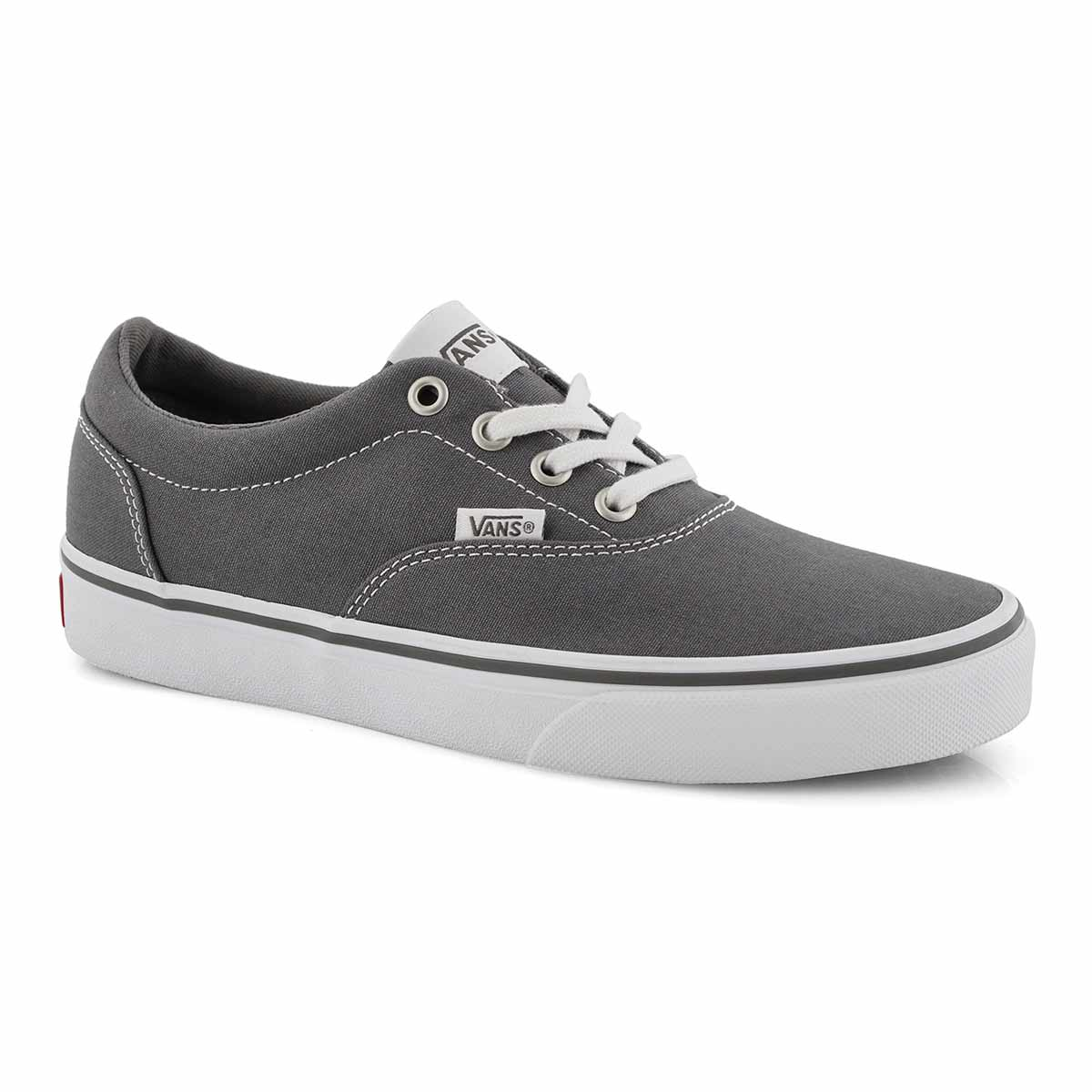 Women's DOHENY pewter/white lace up sneakers