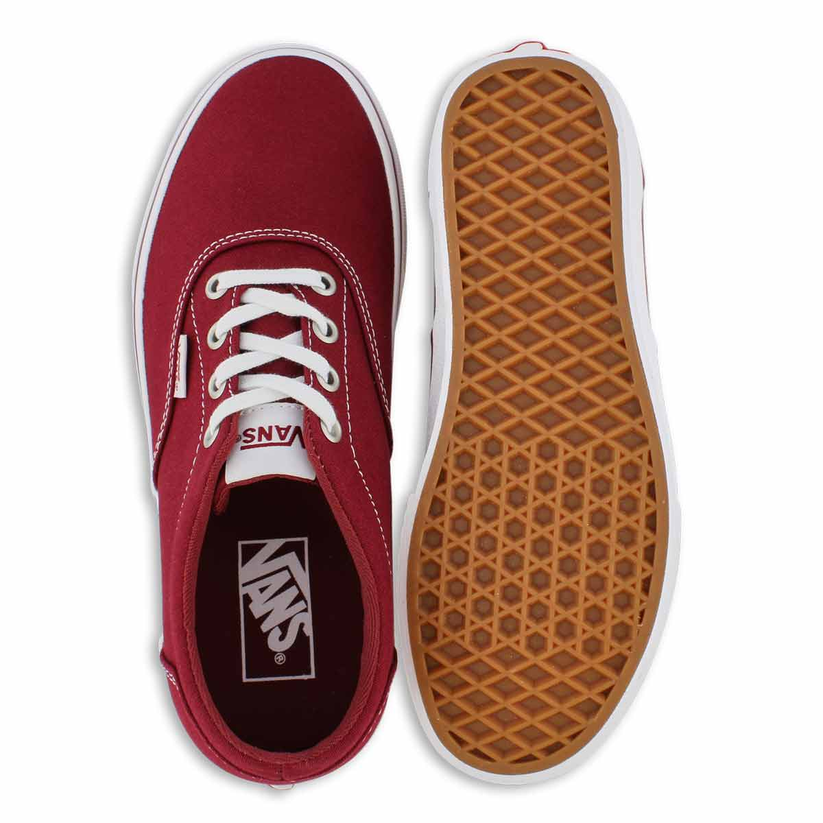Women's DOHENY cabernet/white lace up sneakers