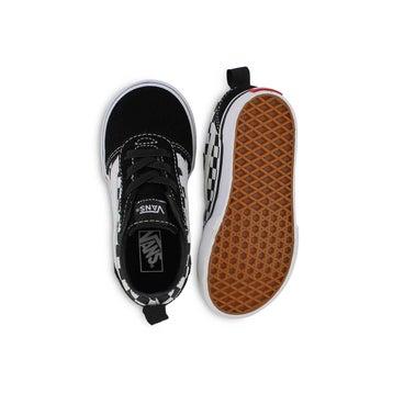 Toddlers' WARD SLIP ON black/white sneakers