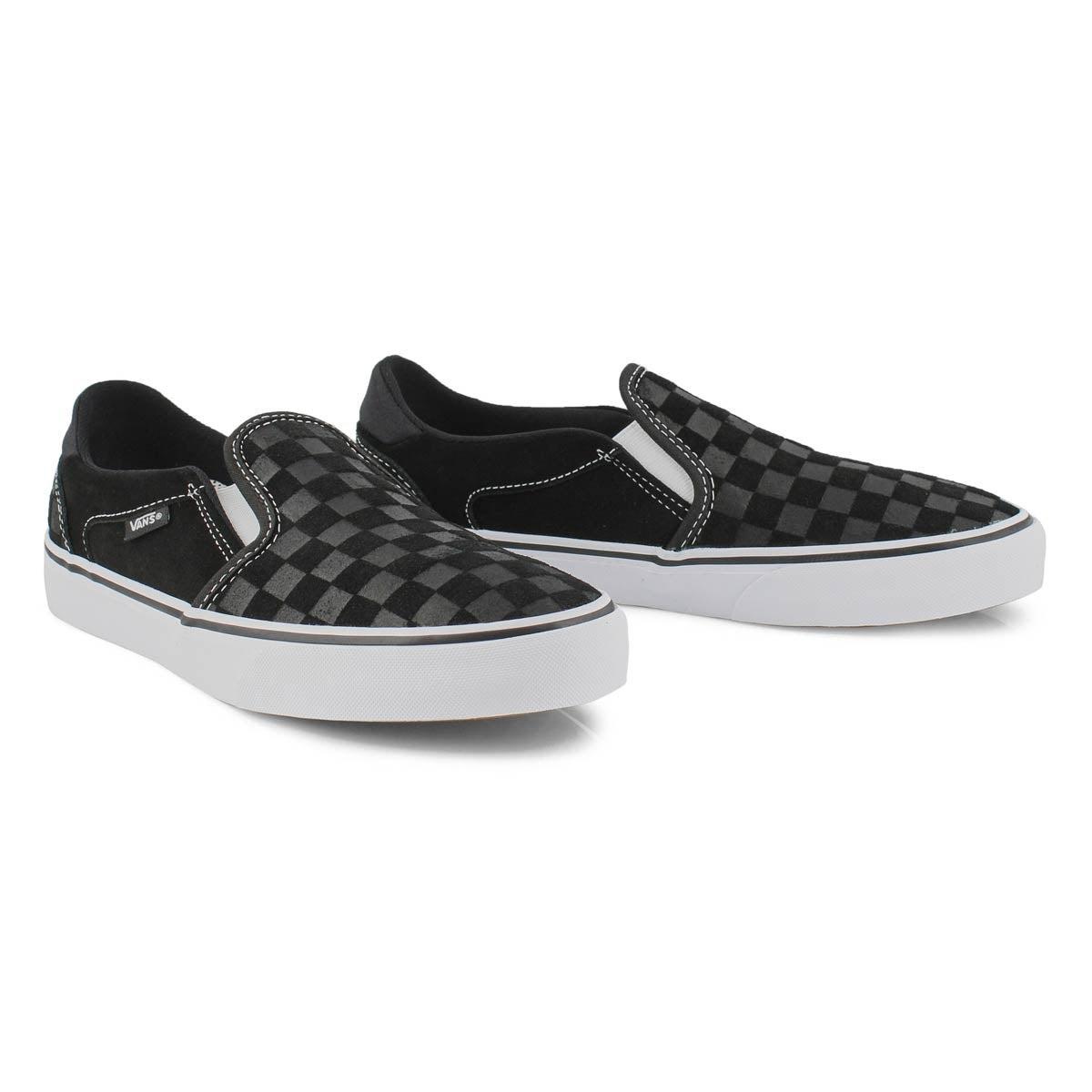 Women's Asher Deluxe Sneaker - Black Checkered