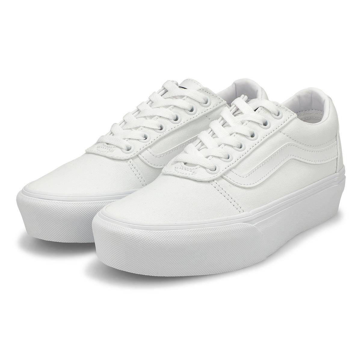 Women's Ward Platform Sneaker - White/White