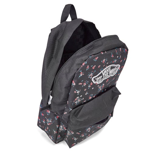 Lds Realm beauty florl blk backpack