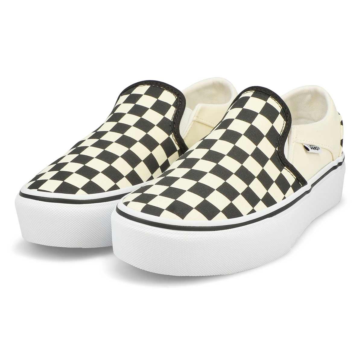 Women's Asher Platform Sneaker -Blk/Wht Checkered
