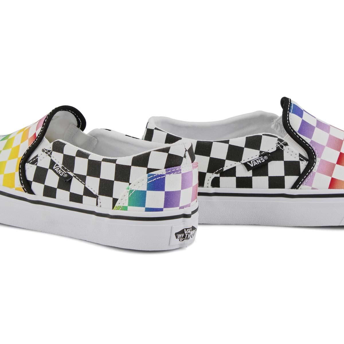 Women's Asher Sneaker - Rainbow Chk/Black/White