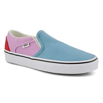 Women's ASHER orchid/red slip on sneakers
