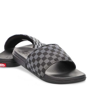 Men's Range Slide-On Sandal- Black/White