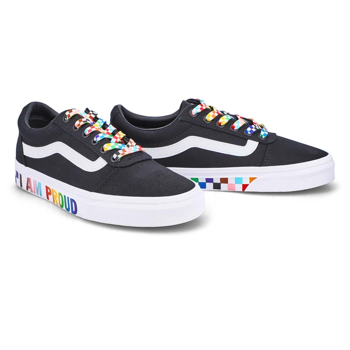 Women's Ward Pride Sneaker - Black/Rainbow