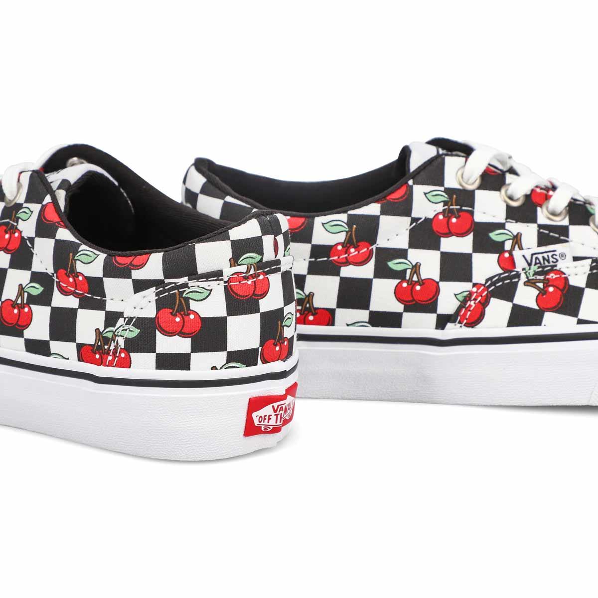 Women's Doheny Sneaker - Checkered Cherry/White