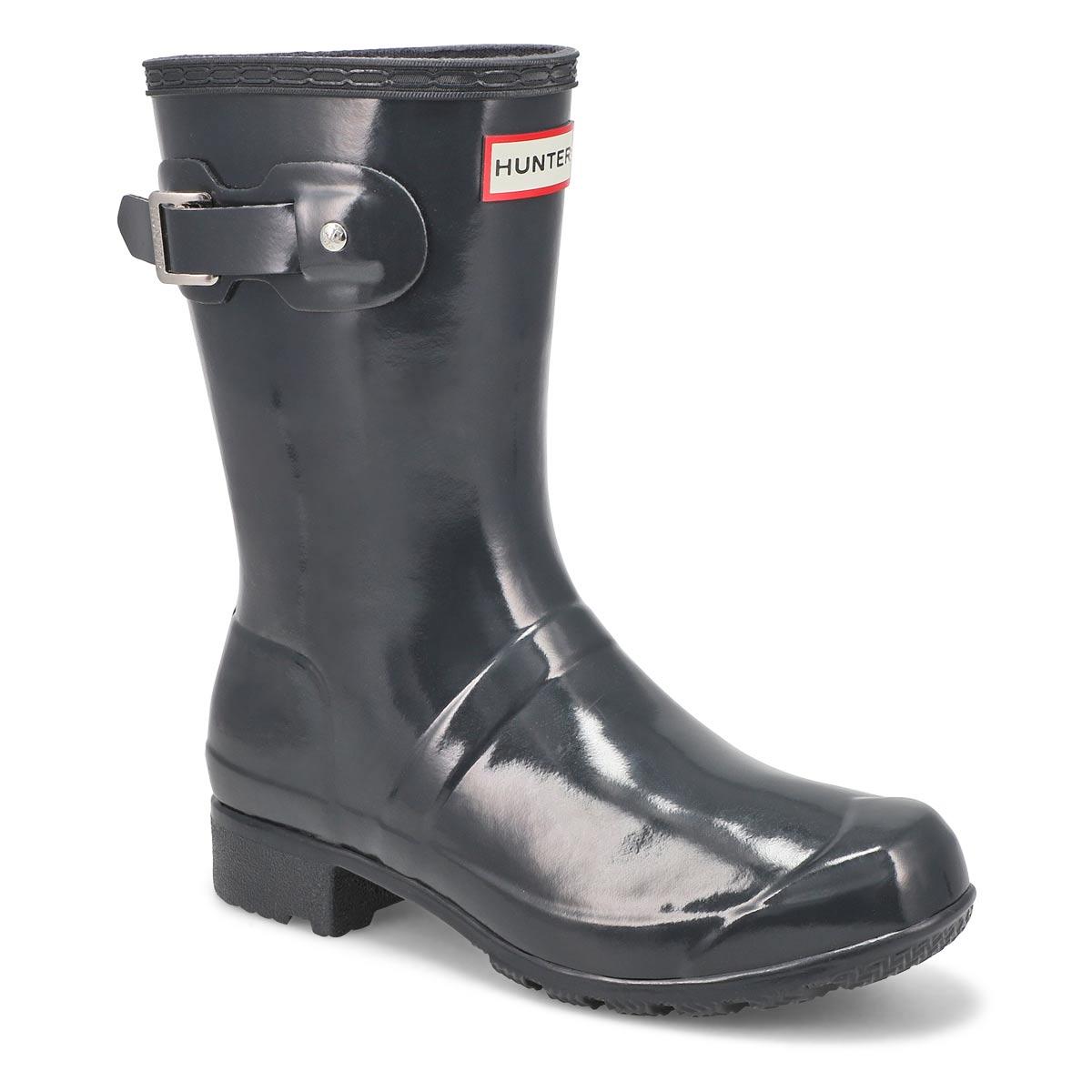 Women's Original Tour Short Gloss Rain Boot - Grey