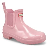 Women's Original Chelsea Gloss Rain Boot- Foxglove