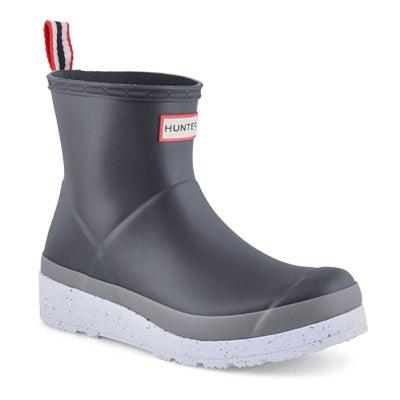 Women's PLAY SHORT SPECKLE black rain boots
