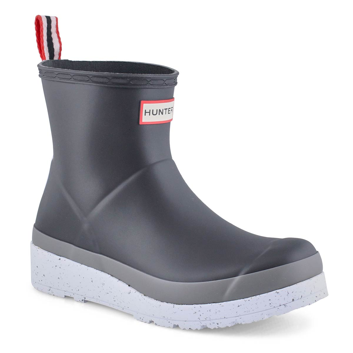 Women's Play Short Speckle Rain Boot - Black