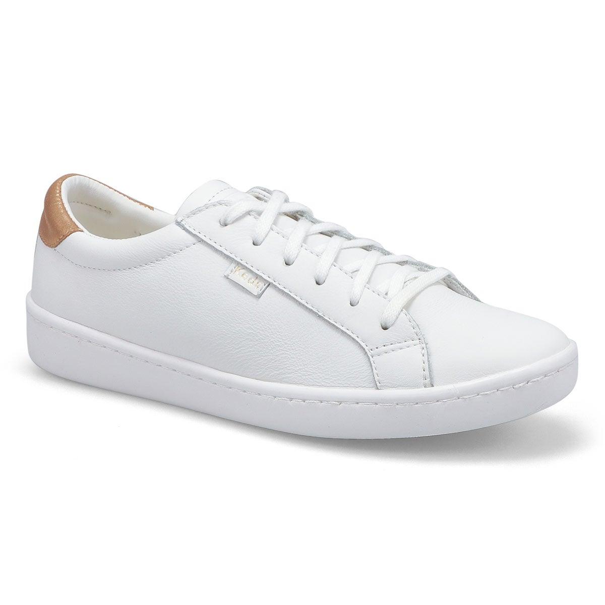 Women's Ace Sneaker - White/Rose Gold