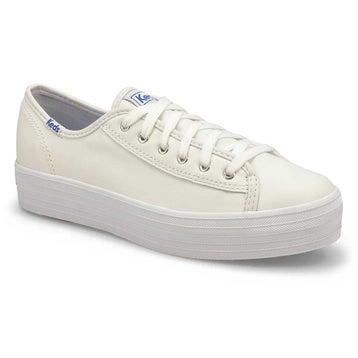 Women's TRIPLE KICK LEATHER white sneakers